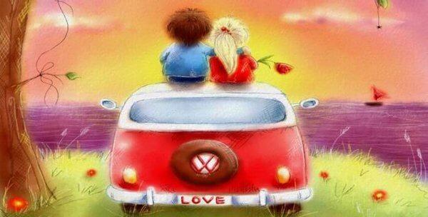 Par på bil