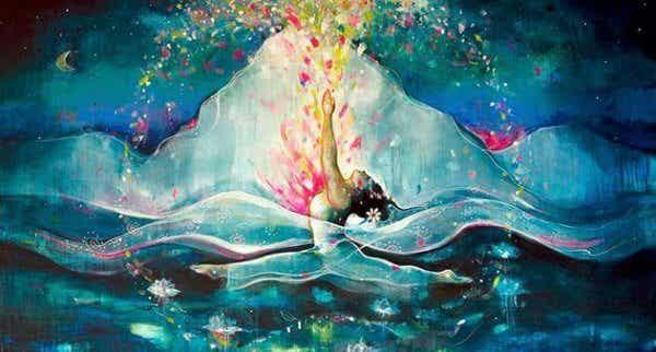 En mogen kvinnas hjärta är ett djupt hav av hemligheter