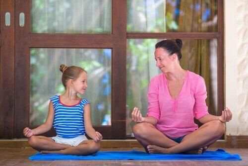 Lära barn att meditera