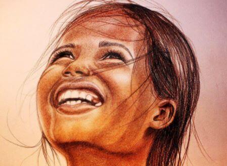 Skrattande flicka
