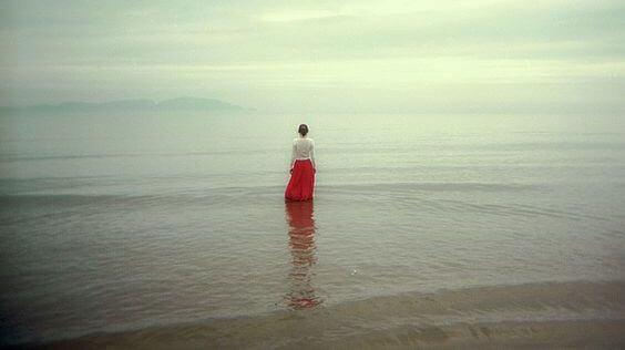 Uppnår inre medvetenhet vid havet