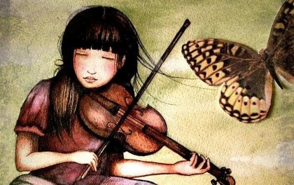 Fiolspelande tjej