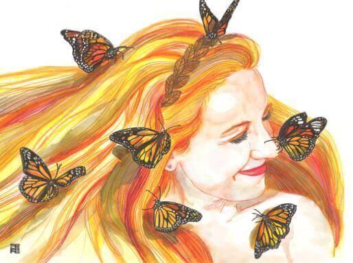 Fjärilar i håret