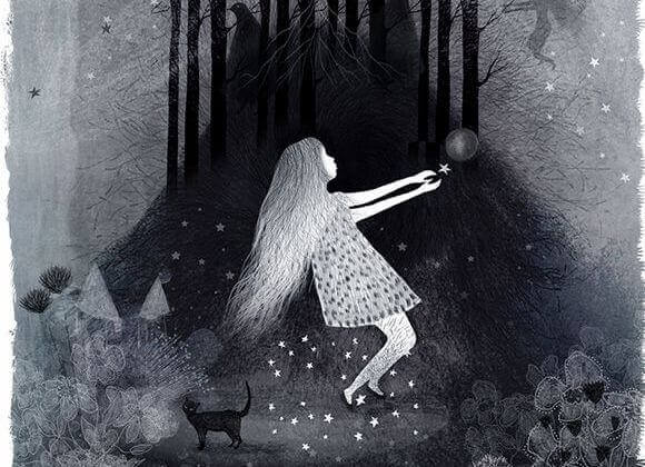 Flicka ignorerar rädslor