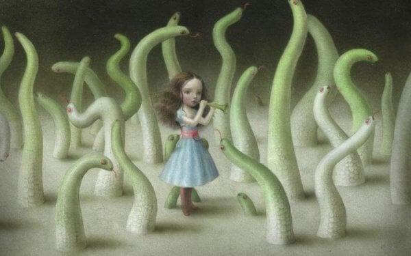 Flicka med trumpet
