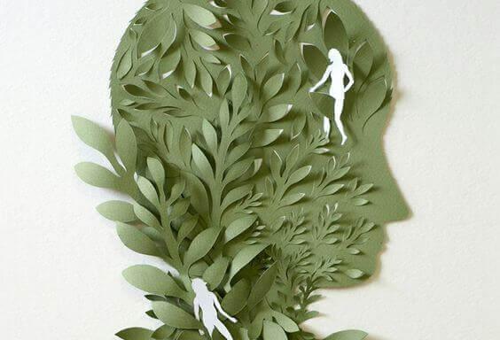 Huvud av blad