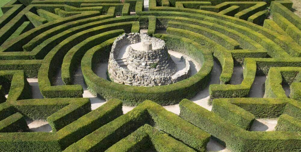 Labyrint av häckar