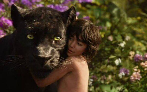 Mowgli och Bagheera