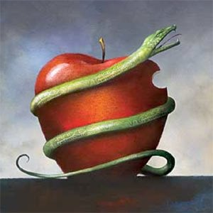 Orm kring äpple