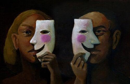 Personer med masker