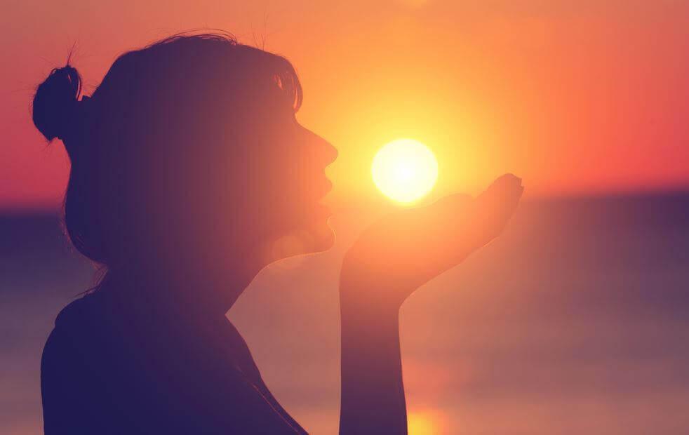 Solen i handen