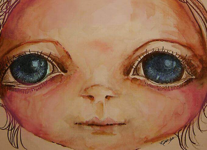 Stora ögon
