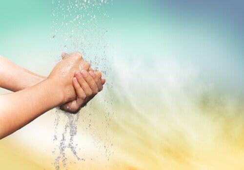 Tvätta händerna