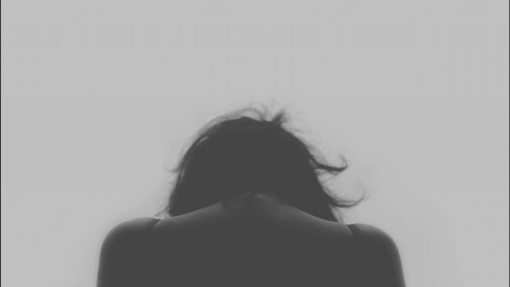 Deprimerad person