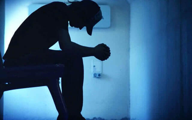 Deprimerad man