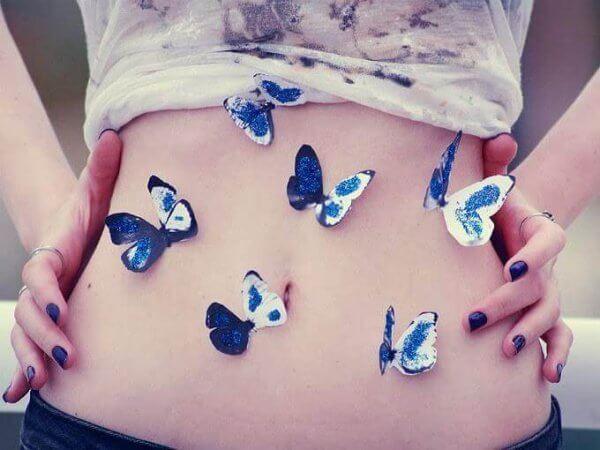 Fjärilar i magen