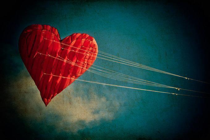 Flygande hjärta