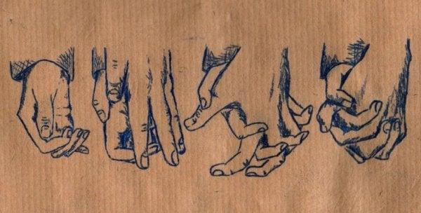 Illustration av händer