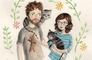 Par med katt