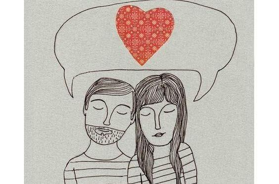 Par tänker på kärlek