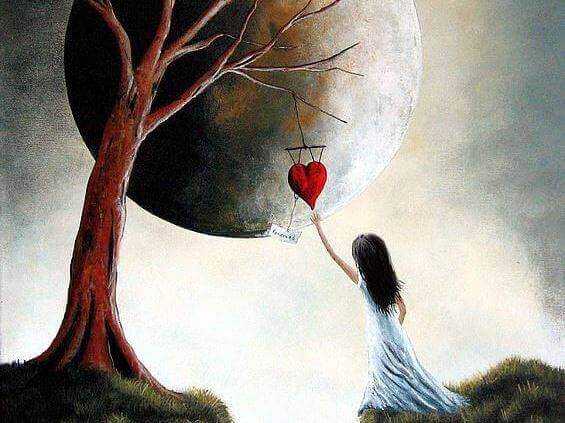 Plockar hjärta från träd