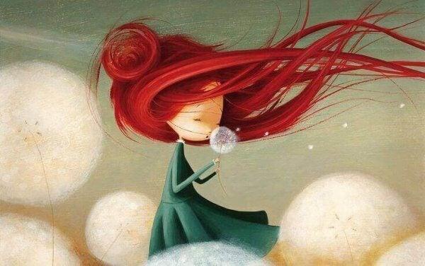 Rödhårig flicka
