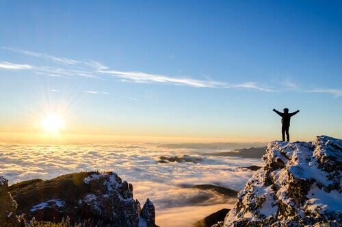Toppen på berget