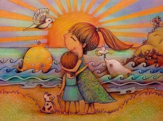 Visa tillgivenhet mot barn