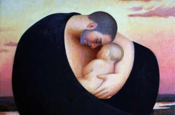 En far kan inte amma ett barn men han är ändå viktig