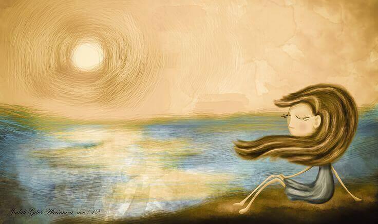 Kvinna och sol