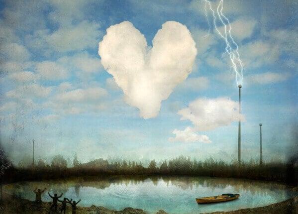 Hjärtformat moln