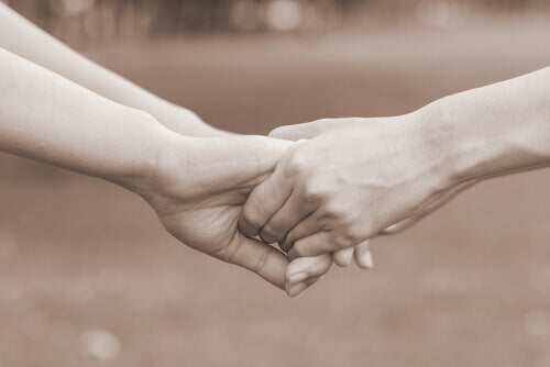 Håller varandras händer
