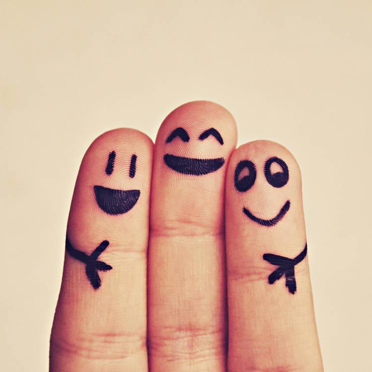 Glada fingrar