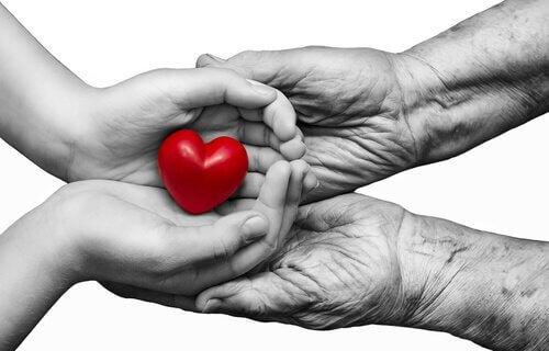 Händer med hjärta