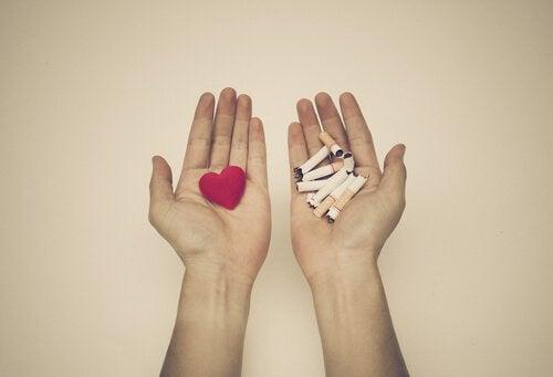 Hjärta och cigaretter