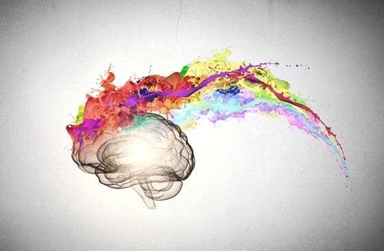 Färgglad hjärna