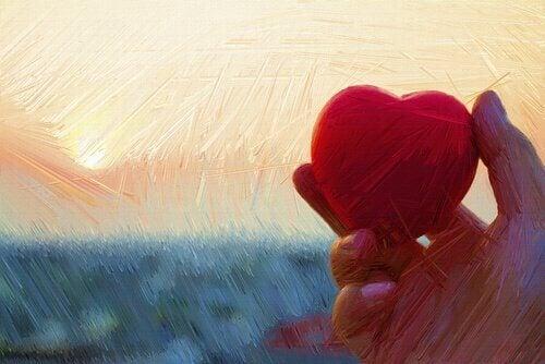 Hjärtat i handen