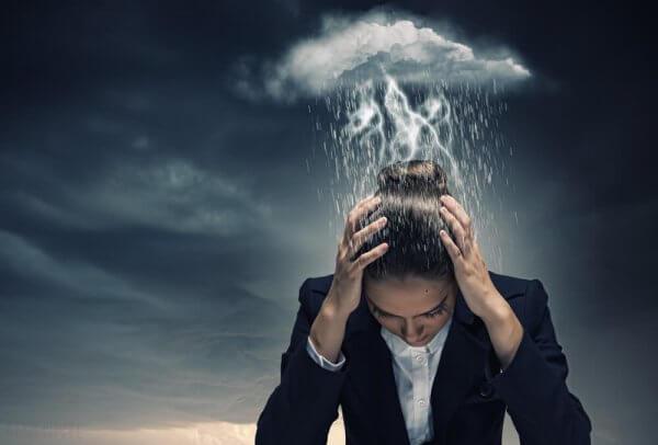 Kvinna med bipolaritet