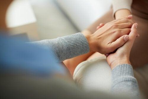 Tröstande terapeut