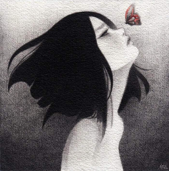 Fjäril på näsan