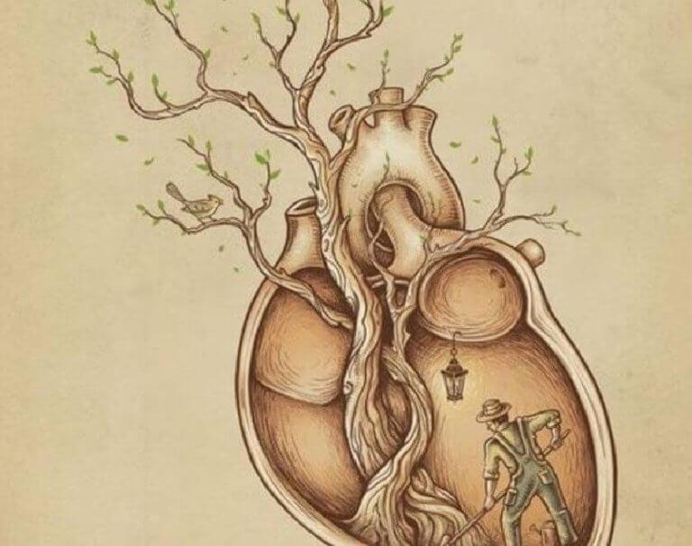 Hjärta med träd
