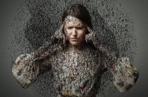 Kvinna med tvångssyndrom