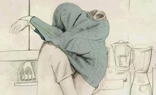 Par som kramas med tröja