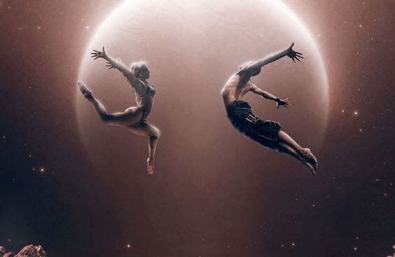 Par vid måne