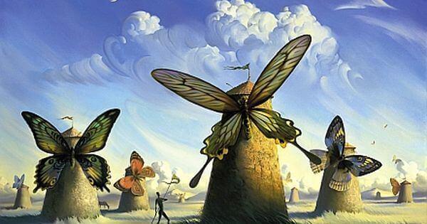 Fjärilar på väderkvarnar