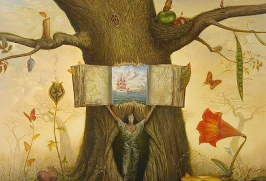 Bok i träd