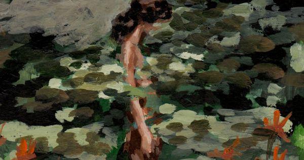 Målning med kvinna