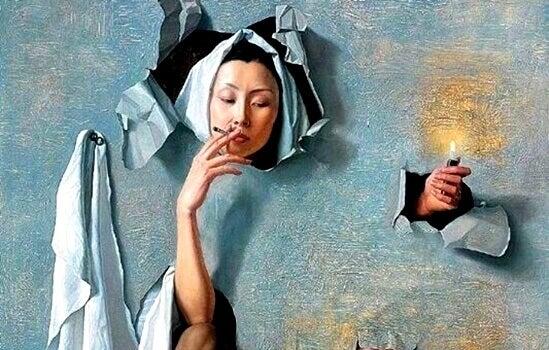 Vad gömmer sig bakom rökvanan?