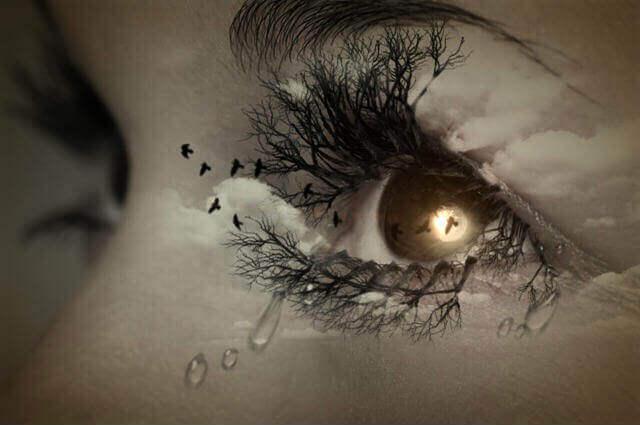 Ögon med tårar