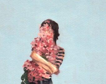 Person som kramar